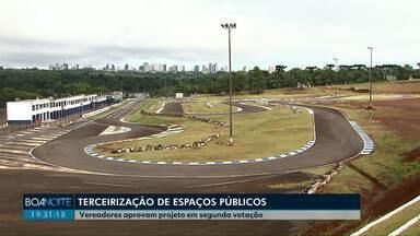 Vereadores aprovam projeto de terceirização de espaços públicos de Cascavel - Com a aprovação, a prefeitura agora pode terceirizar a administração do autódromo, kartódromo e o estádio Olímpico.