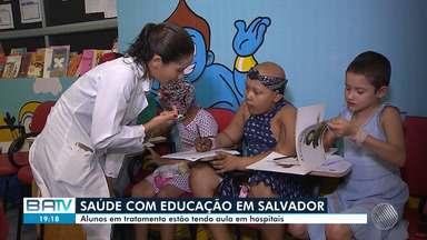 Crianças doentes internadas recebem aulas em hospitais - Professoras são preparadas para ensinar a alunos de diferentes séries.
