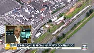 Sede da CET vira central para acompanhar circulação de motoristas, passageiros e pedestres - Queda de parte de viaduto na Marginal Pinheiros afetou trânsito na capital paulista.