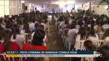 Festa Literária de Maringá começa hoje (21) - Este ano, objetivo é dar visibilidade a minorias.