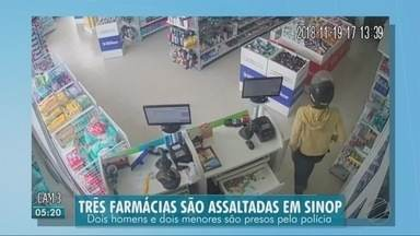 Três farmácias são assaltadas em vinte e quatro horas - Três farmácias são assaltadas em vinte e quatro horas