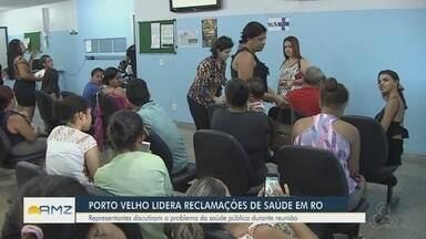 Pacientes enfrentam superlotação em unidade de saúde de Porto Velho - Representantes discutem o problema da saúde pública durante reunião.