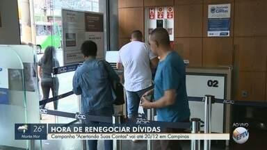 Acic Campinas abre renegociação de dívidas para inadimplentes - Dívida em Campinas (SP) chega a R$ 151 milhões. Consumidores podem renegociar as dívidas no programa 'Acertando suas Contas' até dia 20 de dezembro.