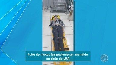 Macas de bombeiros estão ficando retidas em unidades de saúde - Falta de macas está dificultando atendimento de unidades móveis de socorro.