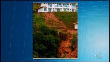 Chuva causa transtornos em Capitólio durante o fim de semana - Lagoa artificial transbordou e condomínio foi parcialmente interditado devido a estragos.
