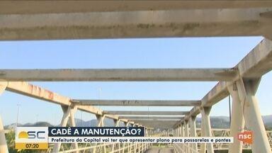 TCE-SC define prazo para realização de manutenção em pontes e passarelas de Florianópolis - TCE-SC define prazo para realização de manutenção em pontes e passarelas de Florianópolis