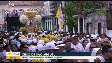 50 mil fiéis foram as ruas de São Miguel do Guamá para participar do círio - Os devotos homenagearam Nossa Senhora de Nazaré.