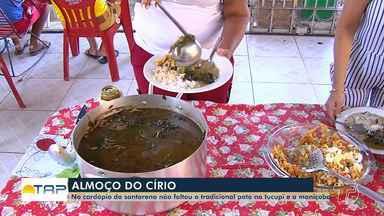 Almoço do Círio reúne pratos tradicionais, como a maniçoba e o pato no tucupi - Muita gente reuniu os parentes e amigos em casa e teve quem optasse pela comodidade dos restaurantes.