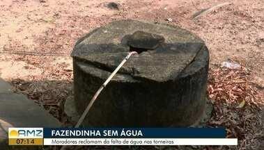 Distrito de Fazendinha está sem o fornecimento de água da Caesa, no Ap - Moradores reclamam da falta do produto nas torneiras.