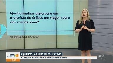 Quadro 'Quero Saber JA' dá dicas sobre dieta - Quadro 'Quero Saber JA' dá dicas sobre dieta