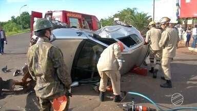 Viatura da polícia se envolve em um acidente na capital - Os policiais tinham acabado de assumir o plantão e estavam indo atender uma ocorrência.