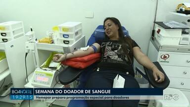 Hemepar prepara programação especial para Semana do Doador de Sangue em PG - Além de sorteios, os lanches são especiais.