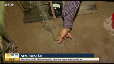 Moradores da Maracangalha reclamam do abastecimento irregular de água - De acordo com os consumidores a água não chega as torneiras devido a baixa pressão.