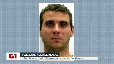 PM é assassinado dentro do carro em Nova Iguaçu - O major Alan de Luna Freire dirigia seu carro, perto de onde mora, quando criminosos encapuzados atiraram contra o veículo. Ele foi atingido e não resistiu.