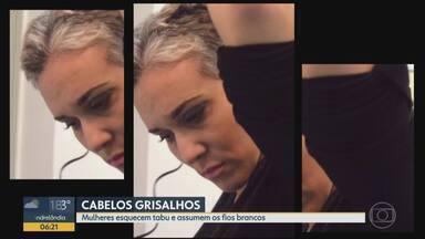 Bom Dia Família: cabelos grisalhos fazem sucesso entre as mulheres - Tabu tem sido deixado de lado em nome da praticidade.