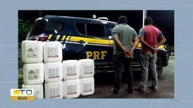 Dois homens foram presos em flagrante transportando substância tóxica - Dois homens foram presos em flagrante transportando substância tóxica