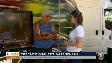 Estação Digital leva orientações a telespectadores em Rancharia - Sinal analógico de TV vai ser desligado na região de Presidente Prudente.