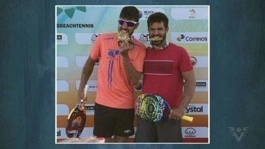 Marcus Vinicius conquista etapa do Circuito Mundial da ITF - Ao lado do cearense Marcio Petrone, o santista conquistou o título do Torneio de Beach Tennis de Torres, no Rio Grande do Sul.