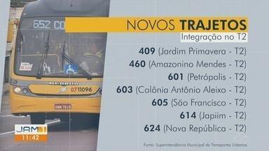 Sete linhas do transporte coletivo de Manaus sofrem mudança de itinerário - Ônibus não irão mais até o Centro de Manaus.