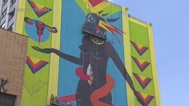 Passeio a pé mostra os murais espalhados pelo centro de Belo Horizonte - Você pode participar do passeio que será realizado no dia 8. As obras fazem parte do Circuito Urbano de Arte, que enfeita a capital.