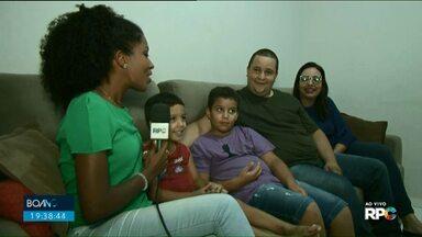Família de Paranavaí encerra o Boa Noite Paraná desta sexta - A família do Bruno, da Coloninha do Jardim São Jorge, deu o último boa noite da edição desta sexta-feira, 30.