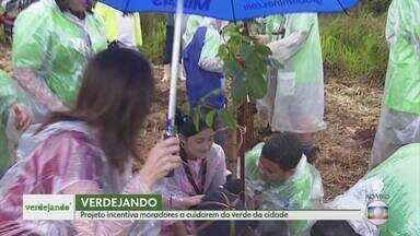 Verdejando incentiva moradores a cuidarem do meio ambiente - Projeto Verdejando, uma iniciativa da TV Globo, quer incentivar as pessoas a valorizarem os espaços verdes da cidade. Ação de plantio foi realizada hoje no Barreiro.