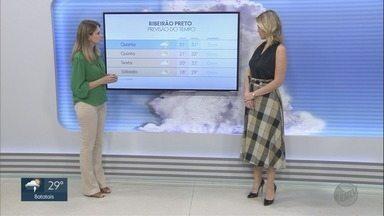Confira a previsão do tempo para esta terça-feira (4) na região de Ribeirão Preto - Temperatura máxima chega a 31°C.