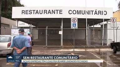 5 restaurantes comunitários estão fechados nesta semana - Contrato emergencial foi assinado ontem com novas empresas. Como elas têm 5 dias para começar o serviço, pessoas de baixa renda de Sobradinho II, Ceilândia, Sol Nascente, Itapoã e Gama ficam sem opção de refeições a r$1,00 e r$2,00