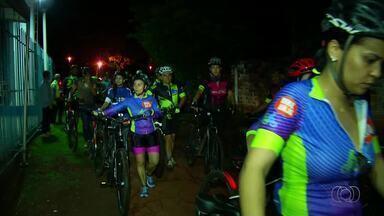 Equipes de triathlon de Palma pedalam em homenagem à triatleta Ludimila Barbosa - Equipes de triathlon de Palma pedalam em homenagem à triatleta Ludimila Barbosa