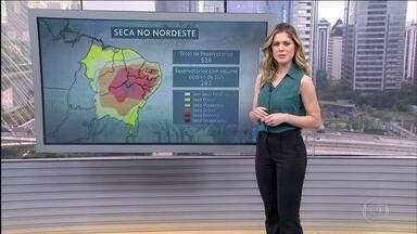 Tempo firme em São Paulo e em boa parte do Sul e previsão de chuva no Norte e Nordeste - Uma frente fria que está na altura do Espírito Santo está organizando as áreas de instabilidade no Norte e no Nordeste. A chuva pode ser forte. No Centro-Oeste e em parte do Sudeste pode chover também. Faz calor em todo o país.