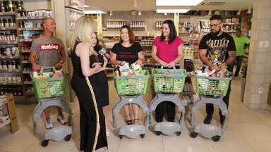 """Participantes do MTV vão às compras e encaram """"corrida maluca"""" - Galera quer manter o foco na dieta"""