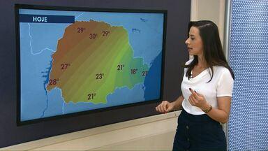 Veja como fica a previsão do tempo o fim de semana em Cascavel e região - Previsão é de temperaturas altas.