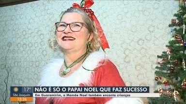 'Mamãe Noel' vira símbolo do Natal em cidade de SC - 'Mamãe Noel' vira símbolo do Natal em cidade de SC