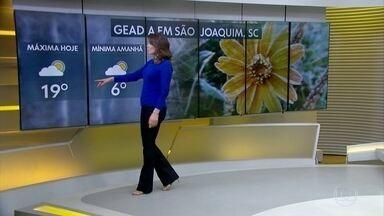 Sábado tem geada, muita chuva em várias regiões e sol, a tarde toda, em poucas capitais - Domingo pode ter temporais atravessando o Brasil de Norte a Sudeste. Veja onde.