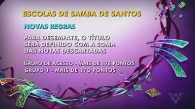 Prefeitura de Santos publica novo regulamento do Carnaval 2019 - Quatro questões sofreram alterações no novo documento.