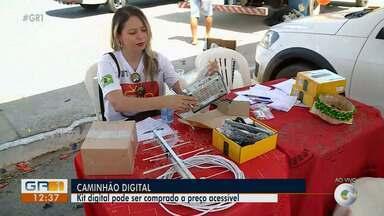 kit digital pode ser comprado a preço acessível em Petrolina - O caminhão digital tá de volta na cidade vendendo kits com conversor, antena e cabos.