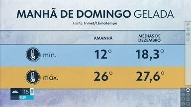 O domingo deve amanhecer frio na capital - A partir de segunda-feira, o calorão volta com tudo.