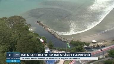 Balneário Camboriú estuda medidas para combater esgoto clandestino em rio - Balneário Camboriú estuda medidas para combater esgoto clandestino em rio