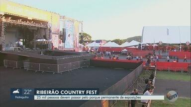 Ribeirão Country Fest espera 25 mil para maratonas de shows sertanejos neste sábado (8) - Nove atrações sobem ao palco no Parque Permanente de Exposições em Ribeirão Preto (SP).