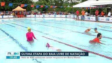 Barra Mansa recebe última etapa do ano do Raia Livre de Natação - Nem o mau tempo atrapalhou os mais de 400 nadadores que caíram na piscina neste sábado (8).
