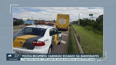 Polícia apreende 1,2 mil caixas de cerveja em Jaguariúna - Carga é avaliada em R$ 50 mil, de acordo com a Polícia Rodoviária.