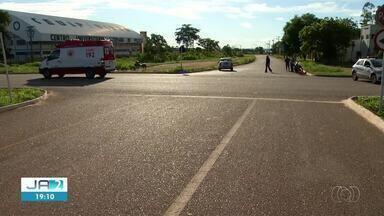 Família fica ferida após acidente em cruzamento de Palmas - Família fica ferida após acidente em cruzamento de Palmas