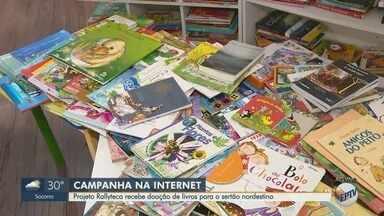 Projeto 'Rallyteca', de Campinas, recebe doações de livros para sertão nordestino - Campanha foi iniciada na internet por jornalistas e já recebeu várias doações.