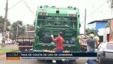 Vereadores definem hoje como ficarão os valores da coleta de lixo em 2019 - O Legislativo entra em recesso na semana que vem, mas ainda tem projetos importantes aguardando votação.