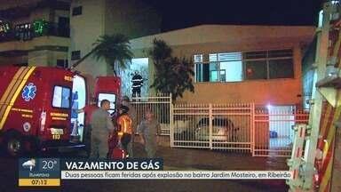Vazamento de gás provoca explosão com dois feridos em Ribeirão Preto - Homem ficou com 30% do corpo queimado, enquanto adolescente teve queimaduras em 20% do corpo.