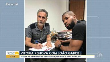 Vitória renova contrato com goleiro João Gabriel - Veja os destaques do rubro negro baiano.