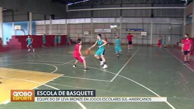 Basquete: equipe de Brasília conquista bronze no sul-americano escolar - Equipe também conquistou a medalha de ouro nos Jogos da Juventude, em 2017.