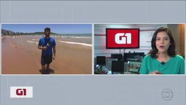 G1 no MG1: Após quatro dias de estrada, equipe do #Partiupraia coloca os pés na areia - Ponto de chegada é Guarapari, cidade capixaba que tem quase 50 praias. Muitas são boas opções para quem curte mergulhar.