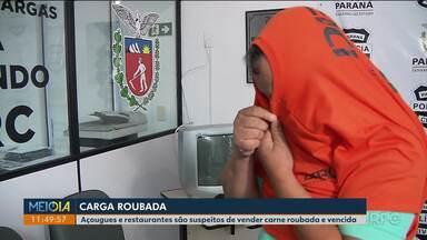 Açougues e restaurantes são suspeitos de vender carne roubada e vencida - Três pessoas foram presas no Paraná e em Santa Catarina.
