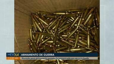 Munição para armamento pesado é apreendida no noroeste do Paraná - Munição estava em um carro roubado.